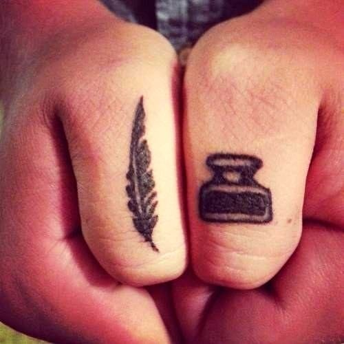 Perfect for the writers. See more literary tattoos.