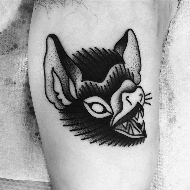 Bold Black Tattoos By Macarena Sepulveda