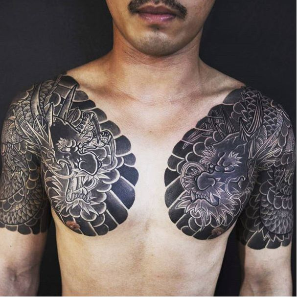 Dark Japanese Tattoos by Haewall