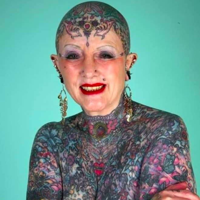 Isobel Varley #IsobelVarley #Badass #Tattooed #Elders #Grandma #ElderlyWomen #Woman #tattooedgrandma