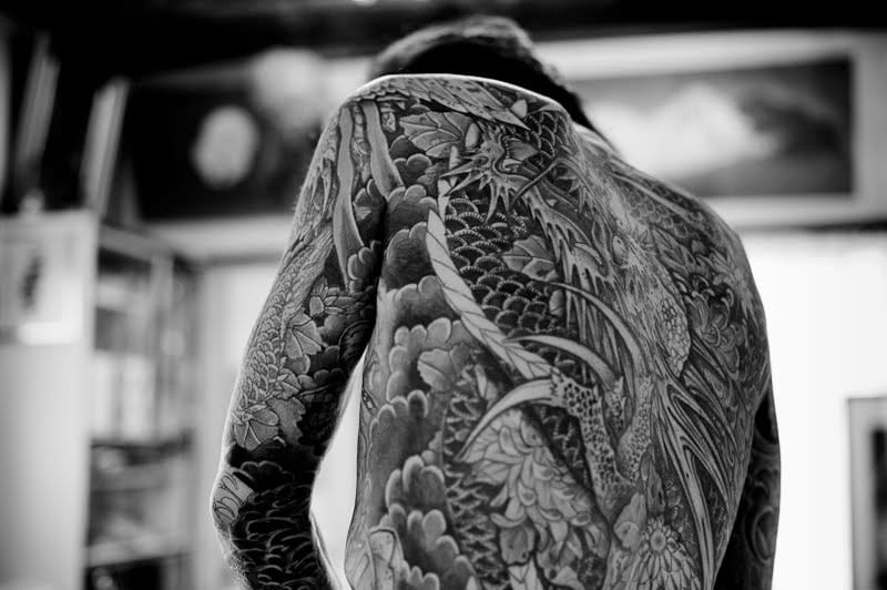 Chestpiece of a bodysuit done by Master Hiroyoshi III.