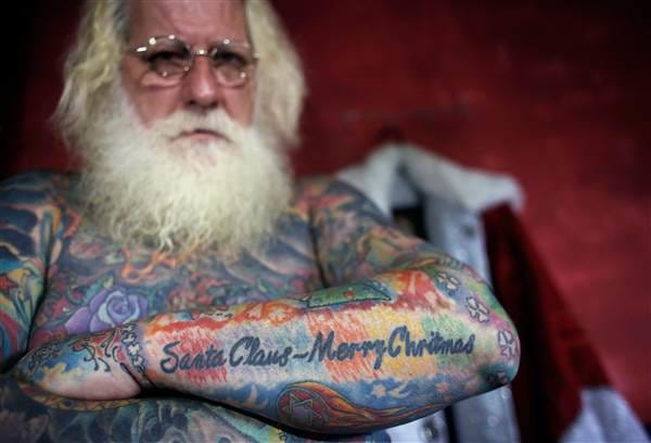 Santa Claus Is Coming To Town....And He's Covered In Tattoos!