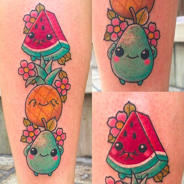 Super Cute And Colorful Beady-Eyed Tattoos By Meri