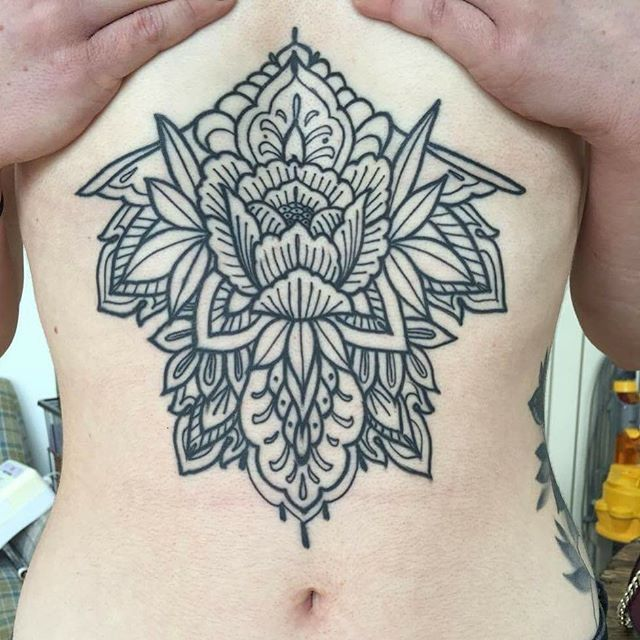 Gorgeous Sternum Tattoos By Sophie Gibbons