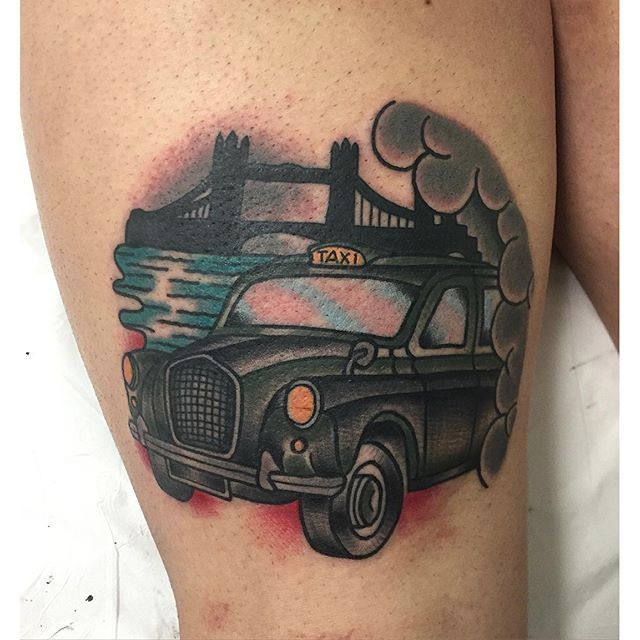 Speed Up With These 10 Taxi Tattoos
