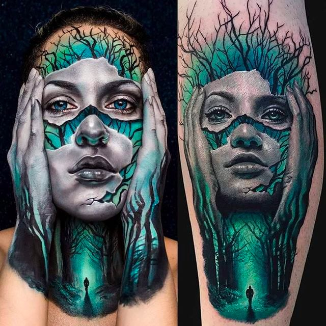 Amazing Tattoo Inspired Makeup Art By Pompberry