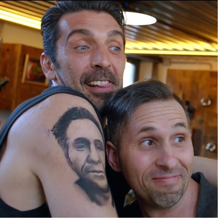 Gianluigi Buffon Gets A Tattoo Of A Fan's Face