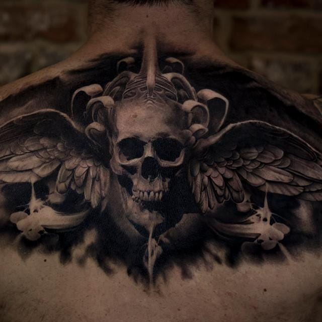 Sumptuous Black And Grey Tattoos By Bacanu Bogdan