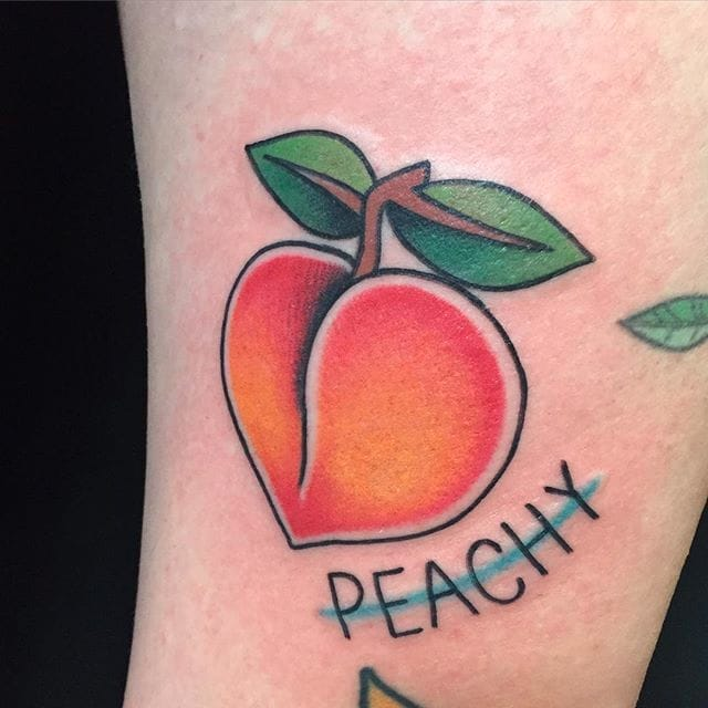 21 Incredibly Juicy Peach Tattoos