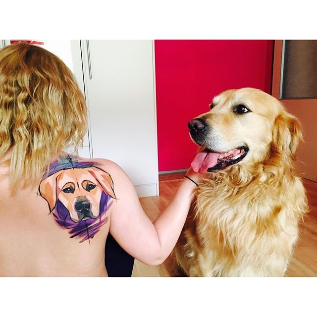 10 Sweet Golden Retriever Tattoos