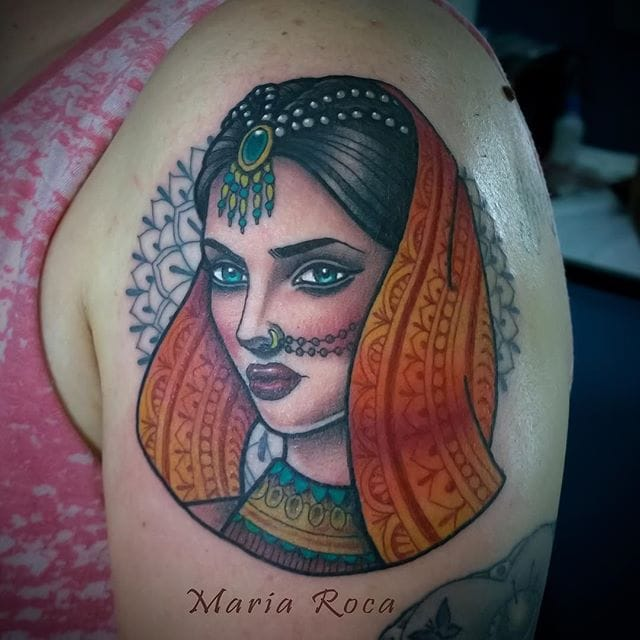 Expressive Girl Tattoos by Maria Roca