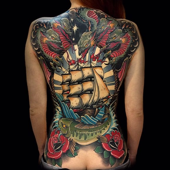 Exhilarating Neo Traditional Tattoos by Rakov