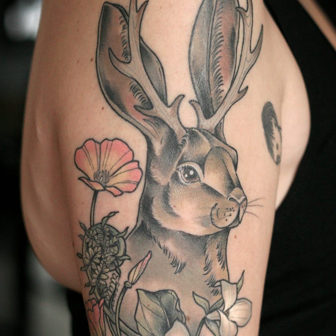 15 Whimsical Tattoos Of The Mythical Jackalope