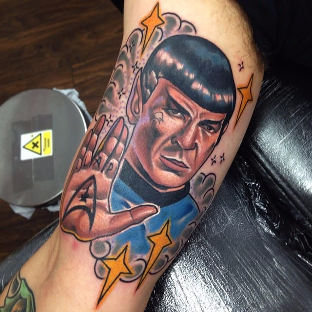12 Intergalactic Star Trek's Spock Tattoos