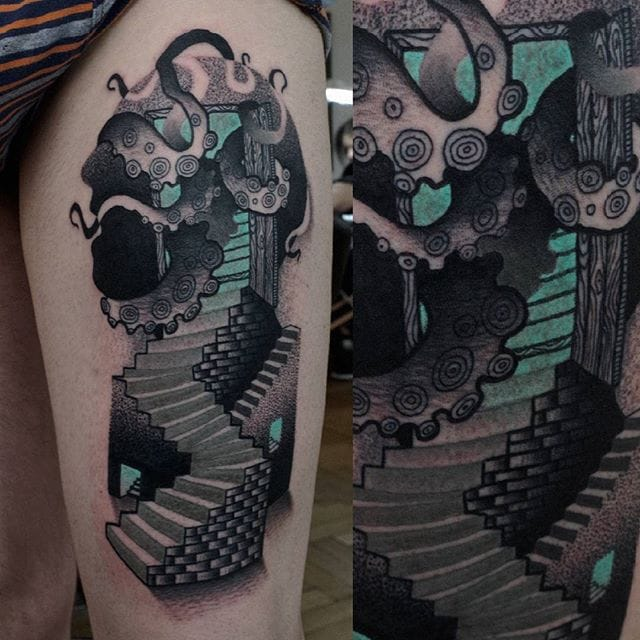 Wonderful Abstract Tattoos by Łukasz Sokołowski