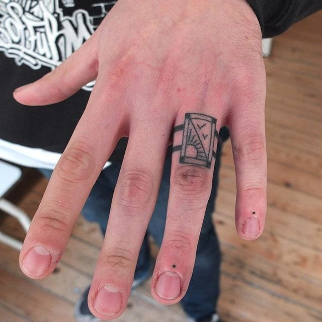 Put A Ring On It: Hand Poked Ring Tattoos by Indy Voet