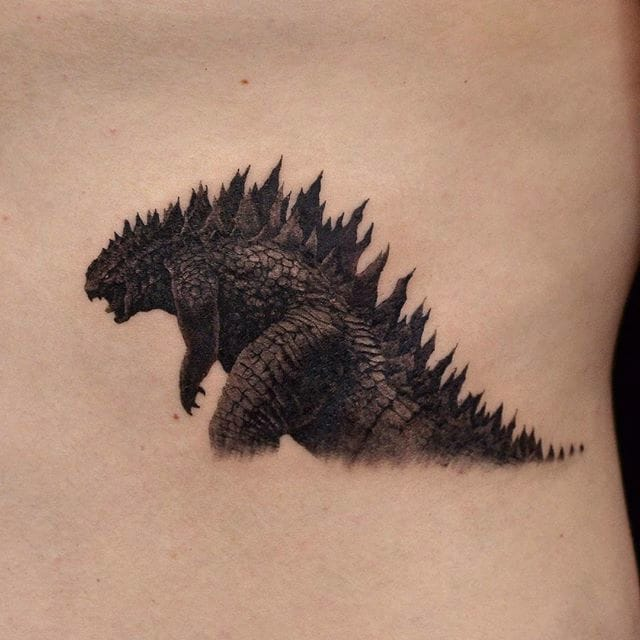 Tokyo Monster Godzilla's Got Mad Gutz in These Awesome Tattoos!