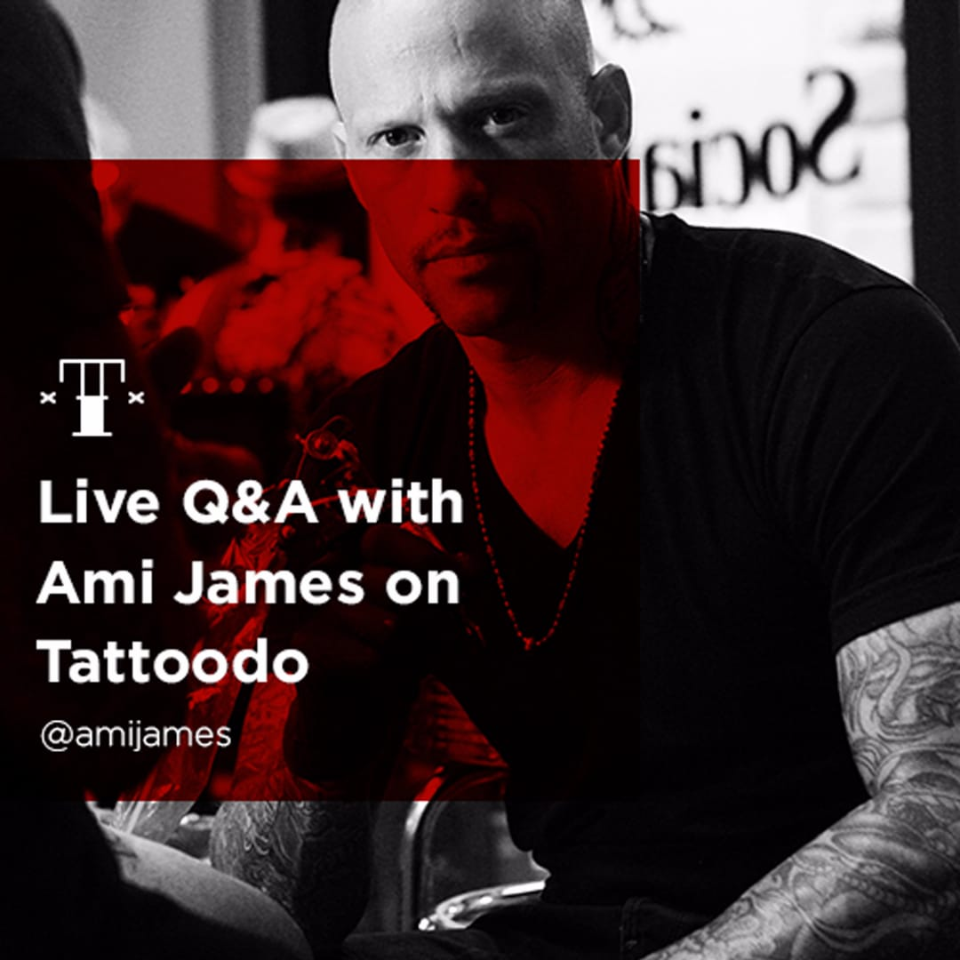 Watch Ami James LIVE today answering YOUR questions and tattooing!