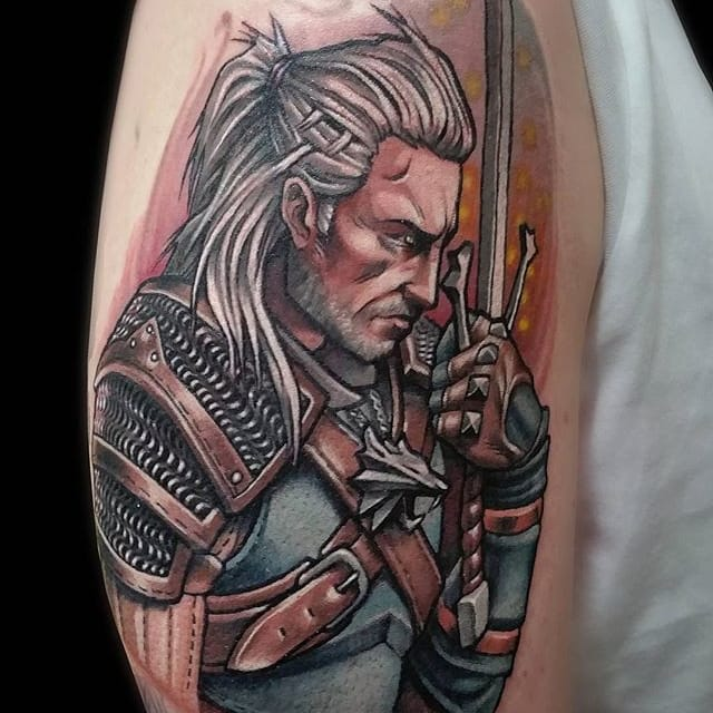 10 Action Packed Witcher Tattoos