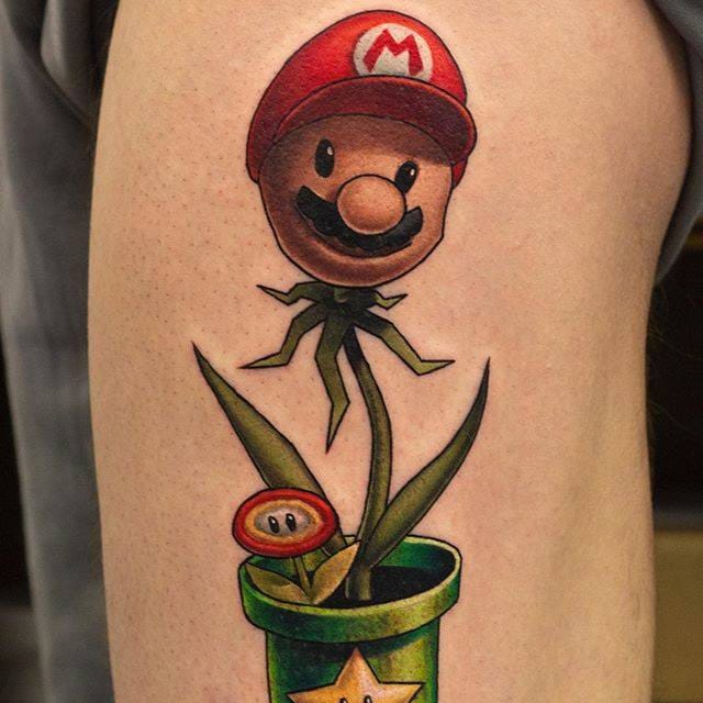 Creative Pop Culture Plant Tattoos by John Anderton