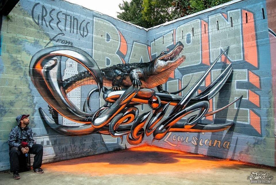 Anamorphic Art in Baton Rouge.
