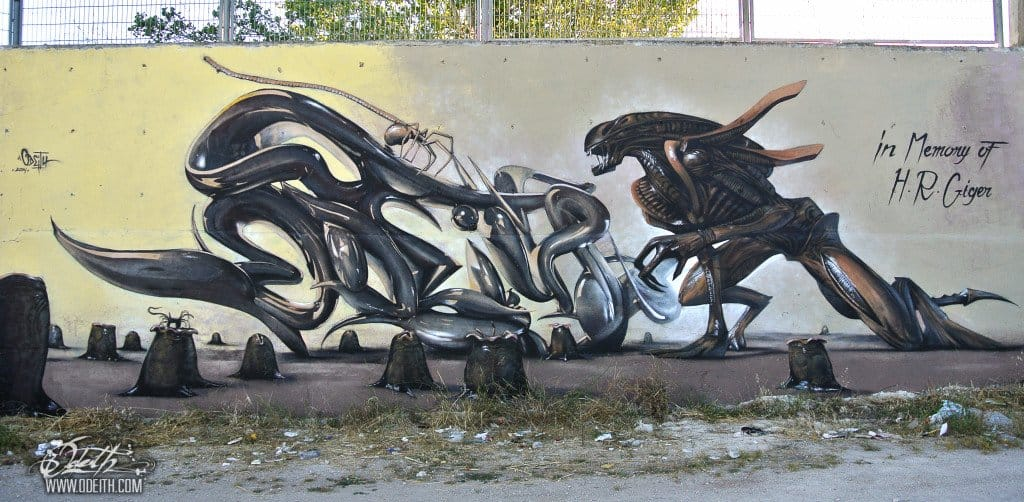 A tribute to Giger at Damaia in Portugal.