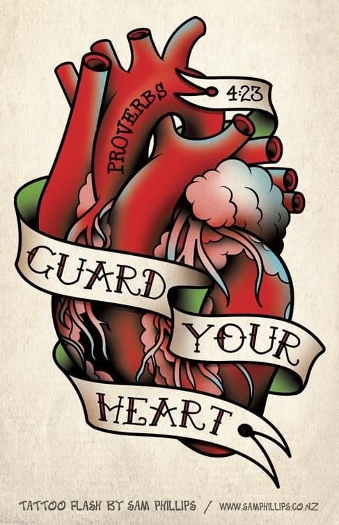 Artwork that would make a great tattoo. Anatomical and other hearts here.