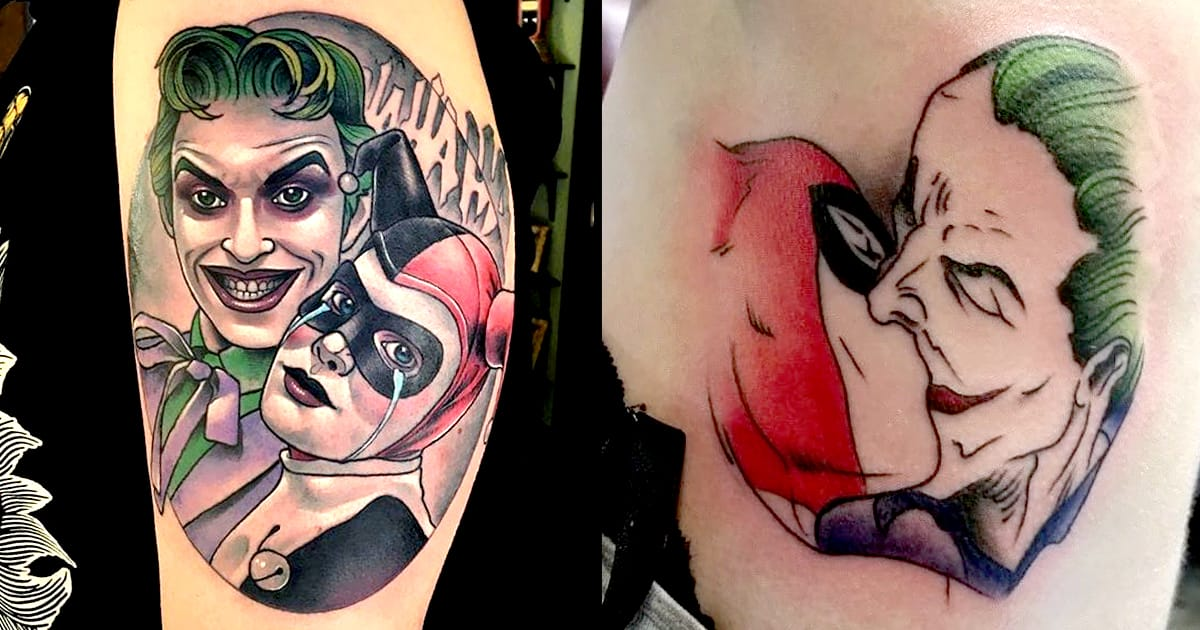 Joker And Harley Quinn Tattoo: 10 Joker And Harley Quinn Tattoos For Any Comic Couple