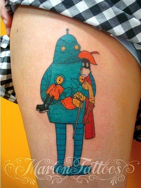 Lovely Jason's The Last Musketeer tattoo by Marlon!