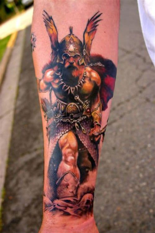 Impressive tattoo from Marvel's Valkyries by master Jeff Gogue.