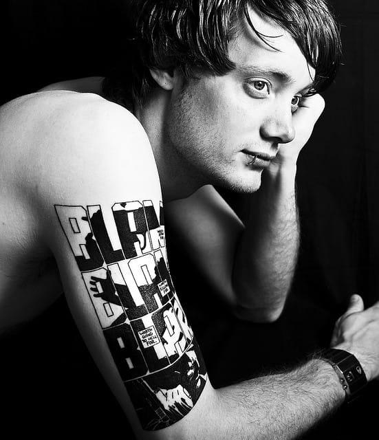 Rad tattoo inspired by Sin City and equally rad photo by Rekha Garton!
