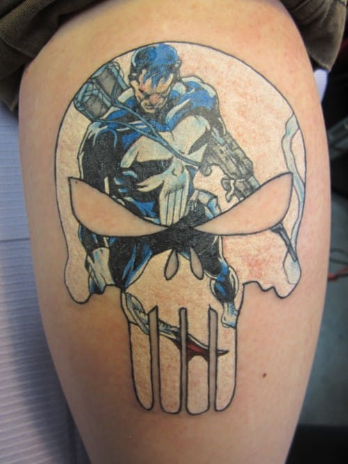 Tattoo from the Punisher (please credit the tattooist!).