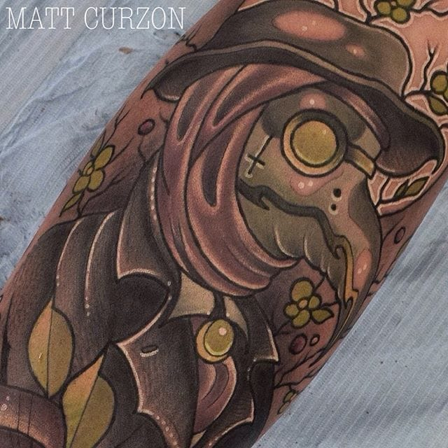 10 Intriguing Neo Traditional Plague Doctor Tattoos
