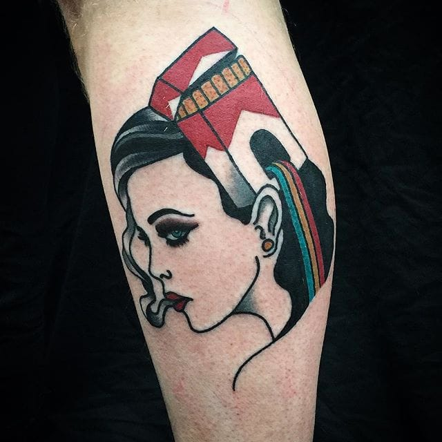 Light It Up With These Rousing Cigarette Tattoos