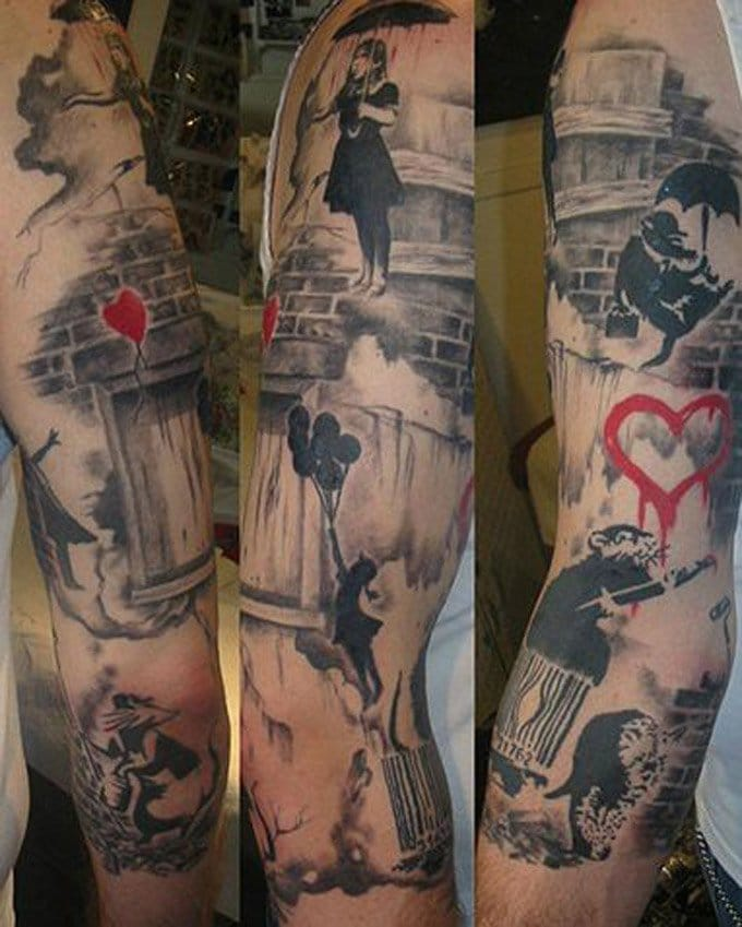 A full Banksy sleeve. Please tell us who is the artist.