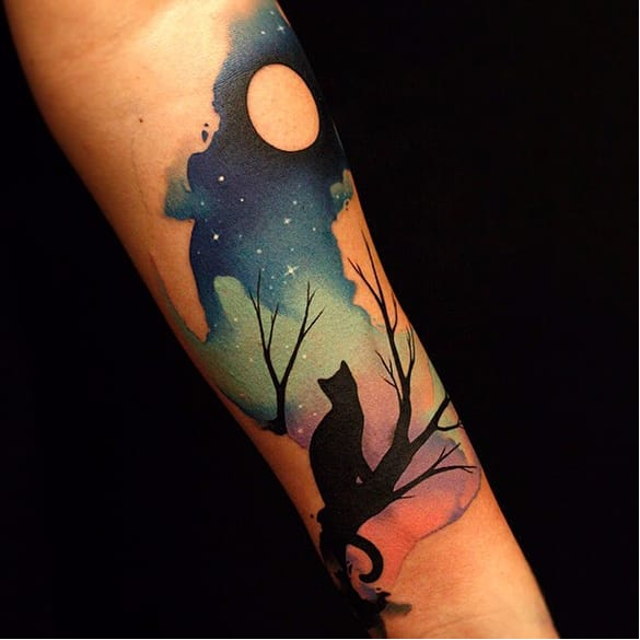Dazzling Watercolor Tattoos by Fabbe Persegani