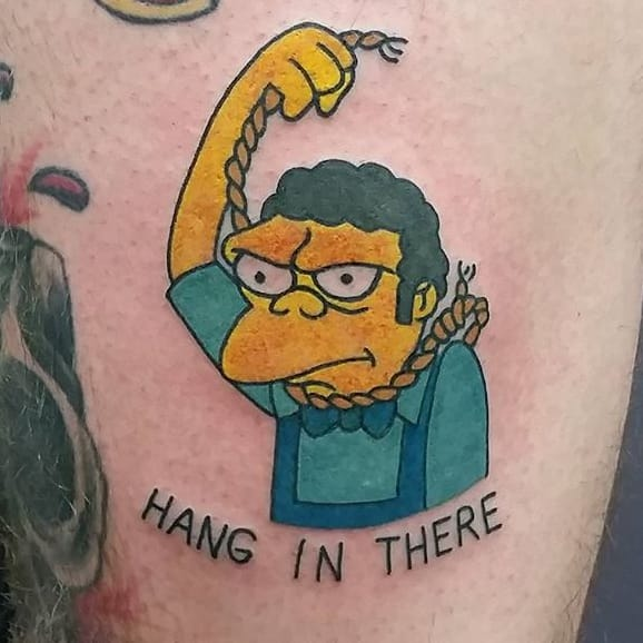 10 gruff moe szyslak tattoos tattoodo for Tattoo parlors in springfield mo