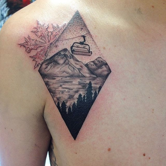 Some Chill Alps Tattoos To Freshen' Your Summer