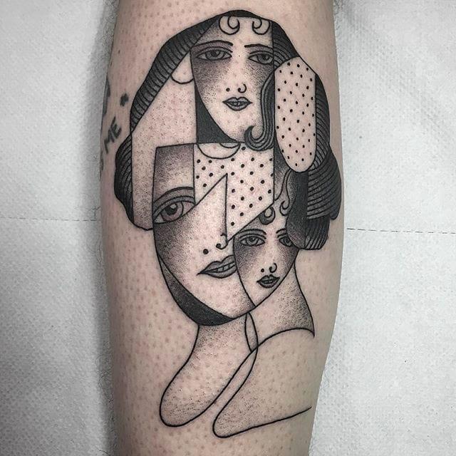 Stunning Minimalist Blackwork Tattoos By Caleb Kilby
