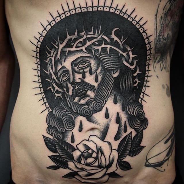 Dramatic Traditional Tattoos by Giacomo Sei Dita