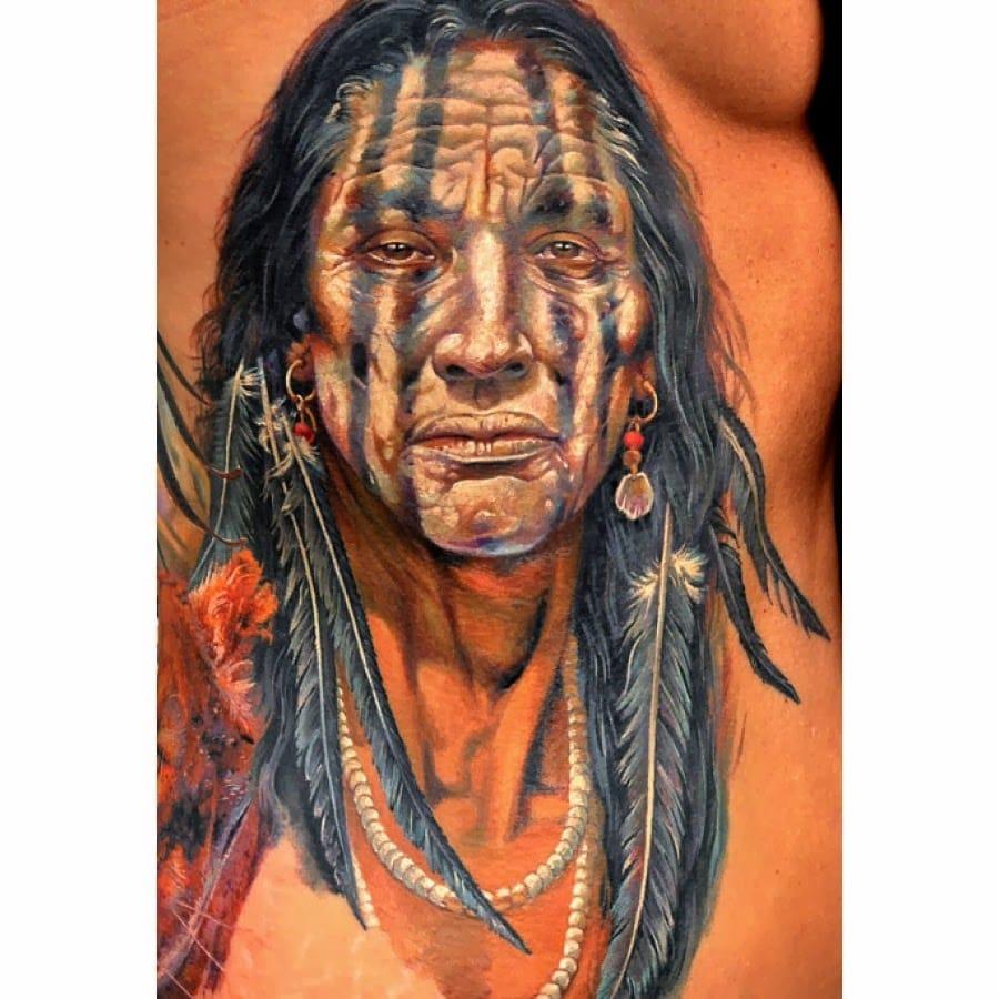 Native American Indian Head by Dmitriy Samohin
