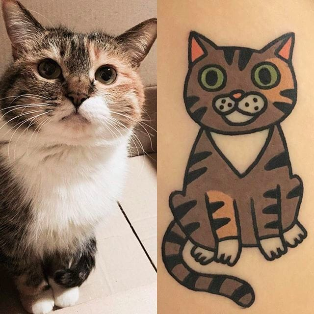 16 Cute And Cuddly Pet Tattoos By Jiran