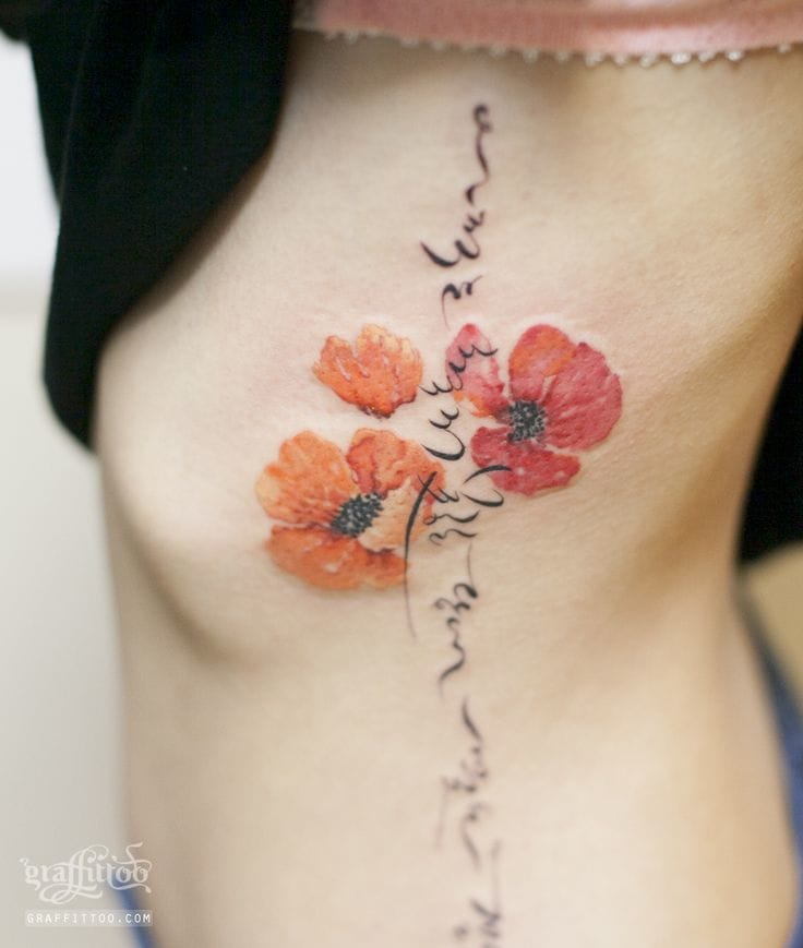 Delicate work by Graffitoo Tattoo from Korea.