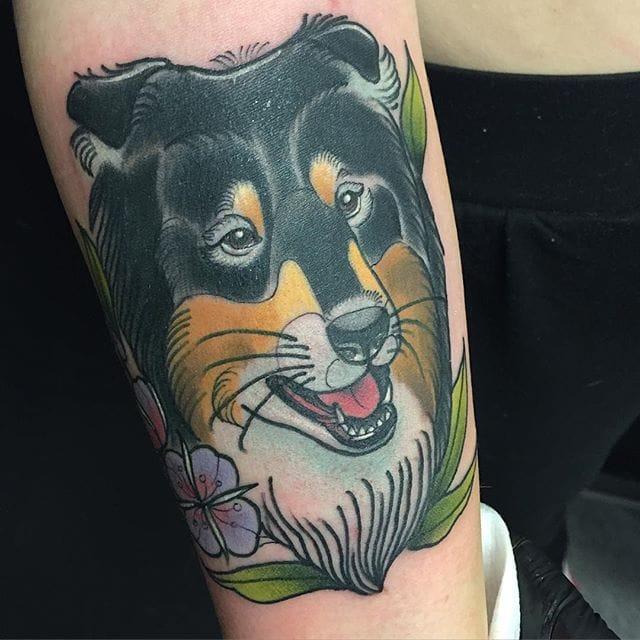 10 Cute Collie Tattoos