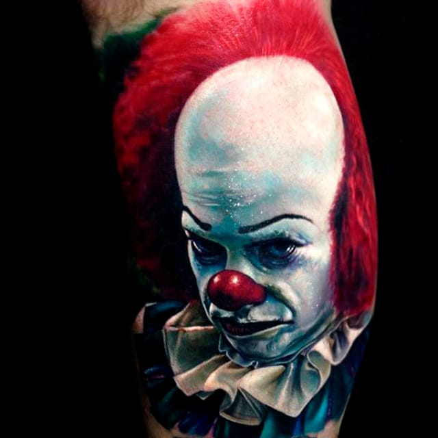 18 Brutal Pennywise The Clown Tattoos That Will Give You The Creeps
