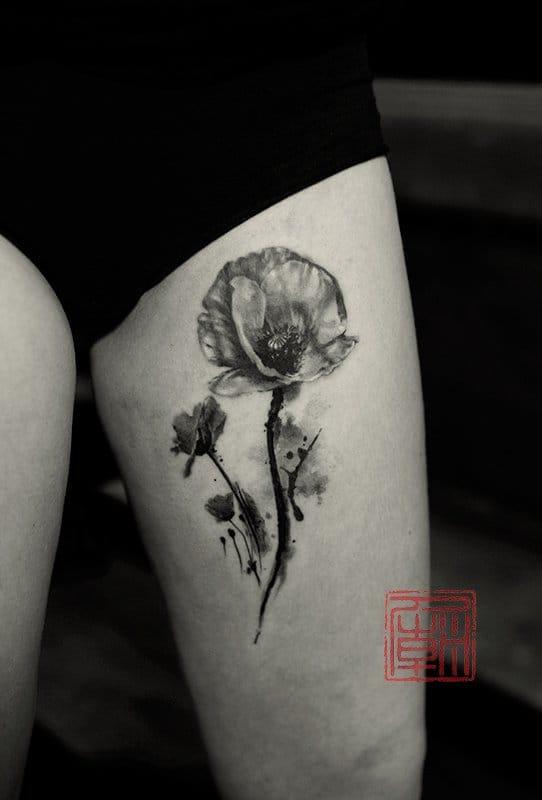 Black and grey by Olivia at Tattoo Temple, Hong-Kong.