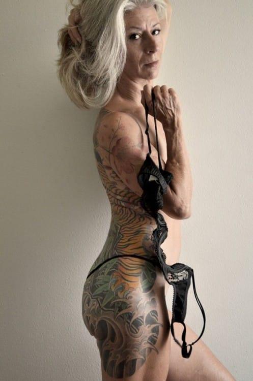 Tattooed elder
