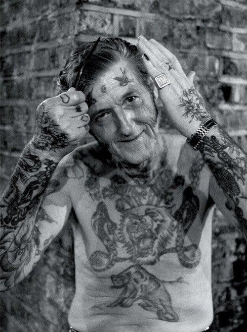 Tattooed grandpa