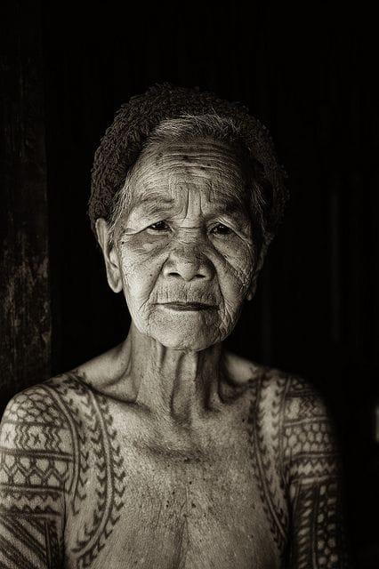 Tattooed grandma