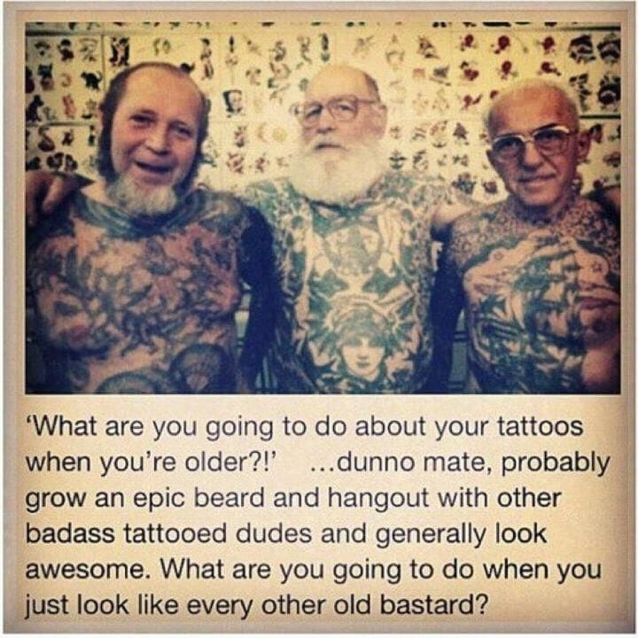 Tattooed friends